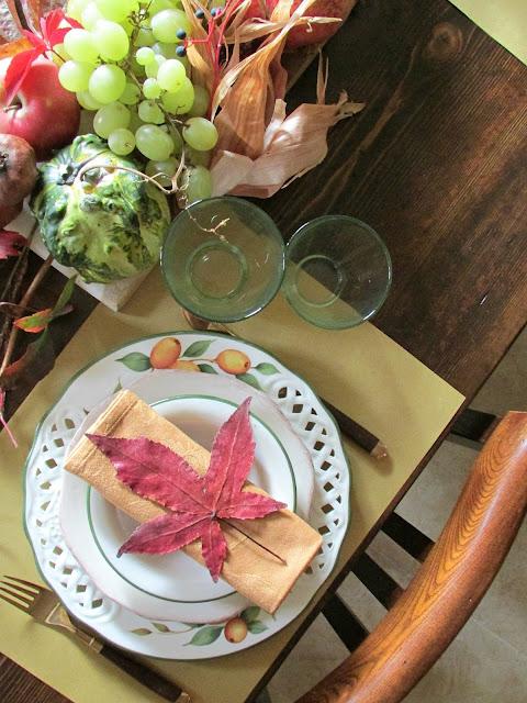 apparecchiare la tavola in autunno
