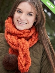 http://www.yarnspirations.com/pattern/knitting/snowdrift-cable-scarf
