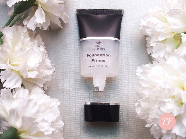 LT PRO FOUNDATION PRIMER. It doesnt really meet my expectation. It is pretty watery for a primer, it doesnt have the power to cover the pores however, it helps with the makeup to stay longer, it is easy to blend and spread, it finishes matte quickly and you only need a pea size for the whole face.