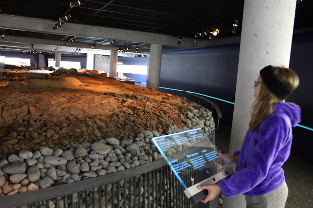 Engaging exhibit detailing Viking ruins in Reykjavik.