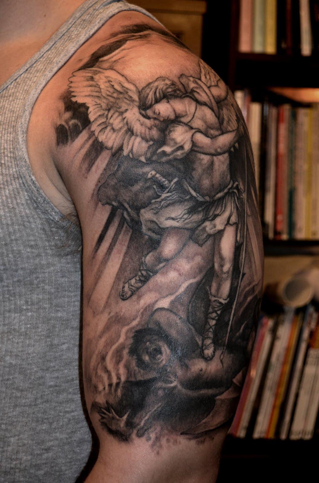 St Michael Tattoo: Alchemy Tattoo Arts: February 2012