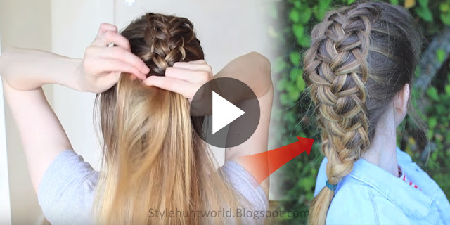 Learn - How To Create French Loop Braid Hairstyle, See Tutorial