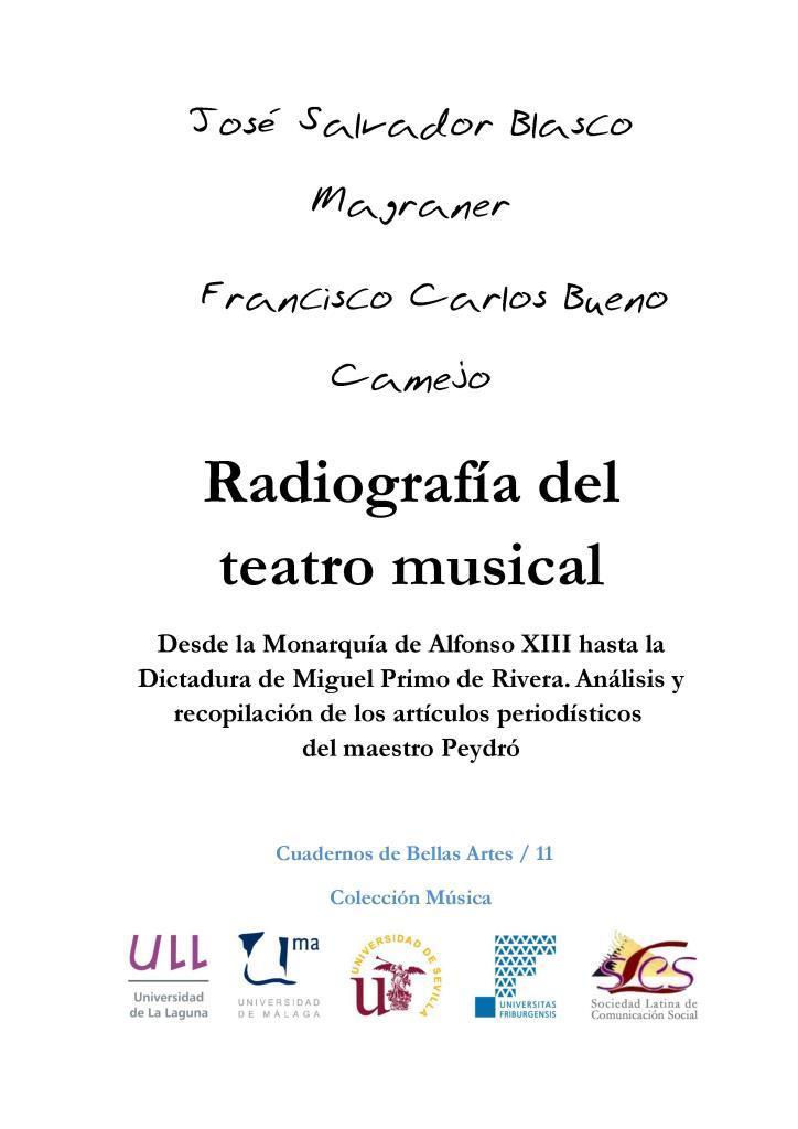 Radiografía del teatro musical – José Salvador Blasco Magraner
