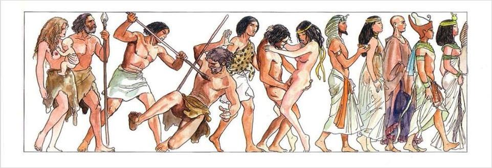 порно комиксы каменный век