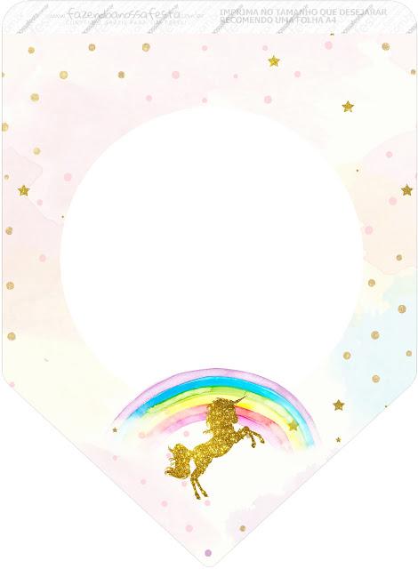 Banderines de Fiesta de Unicornios  para imprimir gratis.