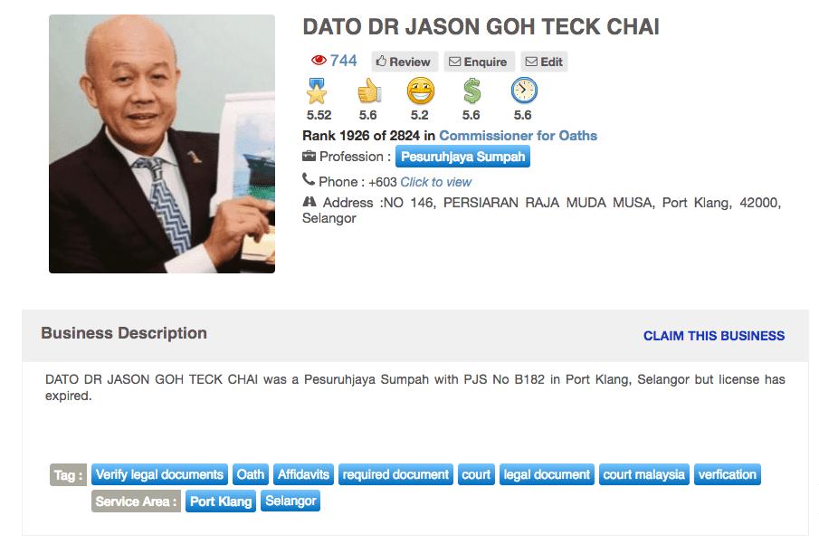 Kenali Tan Sri Jason Goh Teck Chai Individu Yang Cuba Rasuah Sultan Johor Sebanyak 2 Juta Sozcyili