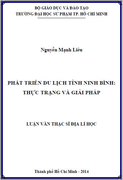 Phát triển du lịch tỉnh Ninh Bình thực trạng và giải pháp