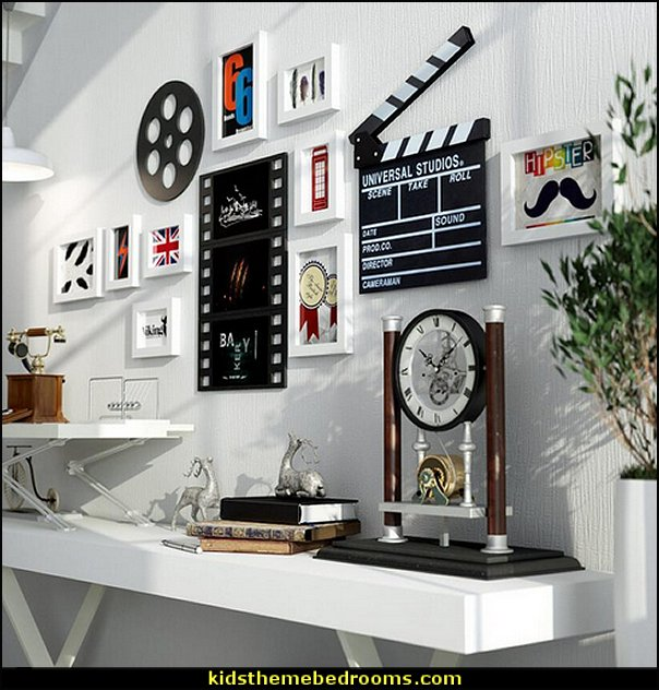 Cinema Decorative  Photo Frames  Movie themed bedrooms - home theater design ideas - Hollywood style decor - movie decor -  Film decor - home cinema decor - movie theater decor - Home Theater Curtains - cinema themed bedroom movie theater - movie themed decorating ideas - movie props - designing a home theater room -  decorating home theater ideas - media room decorating ideas - film buff bedroom ideas