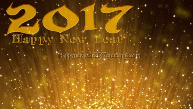 Happy New Year 2017 Golden Background Wallpapers Download Free