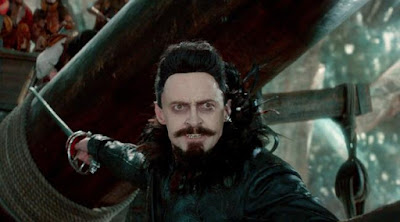 Hugh Jackman as Pirate Blackbeard, in Pan (2015), Directed by Joe Wright