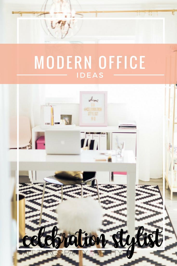 Modern Office Ideas by popular blogger Celebration Stylist