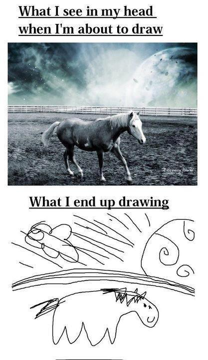 What I See In My Head When I'm About To Draw - Expectation vs Reality