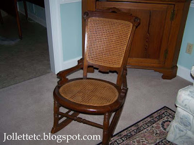 Rocking chair formerly belonging to Helen Killeen Parker  http://jollettetc.blogspot.com