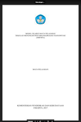 Silabus Akidah Akhlak MTS Kelas 7/8/9 Kurikulum 2013 Revisi 2017