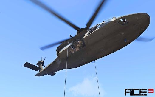 Arma3用ACE3 MODのファストロープ機能