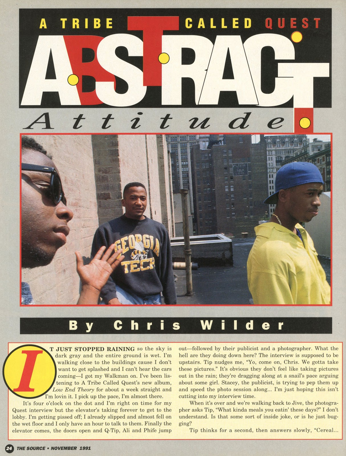 A Tribe Called Quest Interview (The Source, Nov. 19991) Page 1