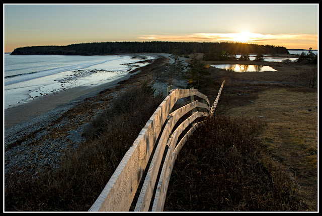 Nova Scotia; Maritimes; Atlantic Ocean; Gaff Point; Hirtle's Beach; Sunset