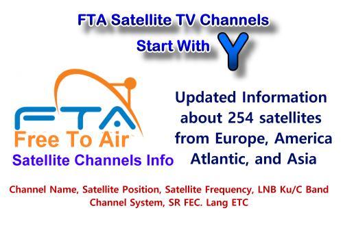 FTA satellite TV channels Start with Y
