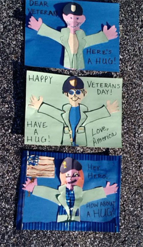 Make a Veterans Day Hug a Hero Card Craft Activity Middle School Elementary Preschool