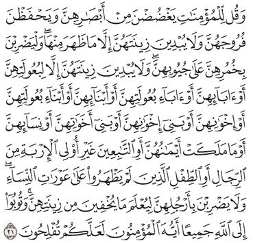 Tafsir Surat An-Nur Ayat 31, 32, 33, 34, 35