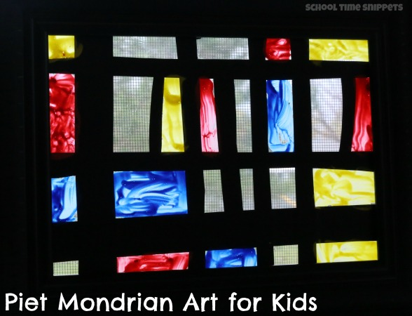 Piet Mondrian Art for Kids