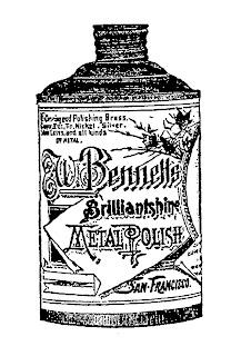 vintage product polish image illustration transfer digital
