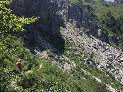 Trail #8, Val Caldera heading to Passo del Giuff.