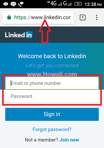 Linkedin Desktop Site