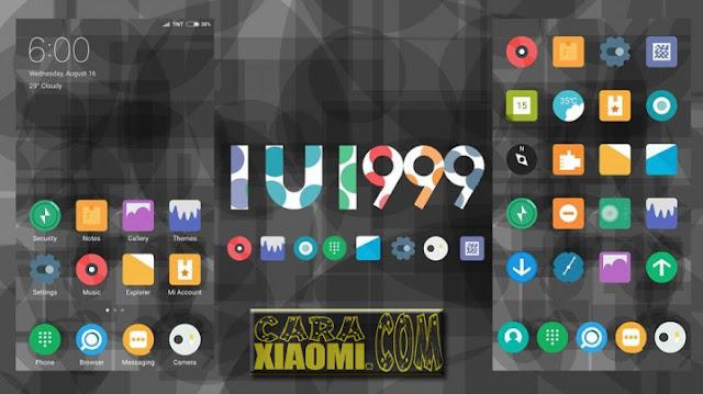Tema Xiaomi IUI 999 Mtz Flat Material Desain For MIUI [V9 Theme]