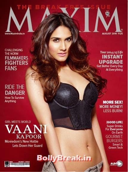 Vaani Kapoor, August 2014 Indian Magazine Covers