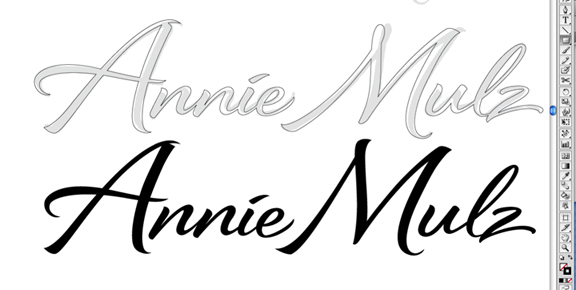 THE ART OF HAND LETTERING: The Annie Mulz Logo Script