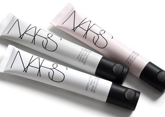 NARS Spring 2017 Radiance Pore Shine Control Smooth Protect Face Primers Review Swatches