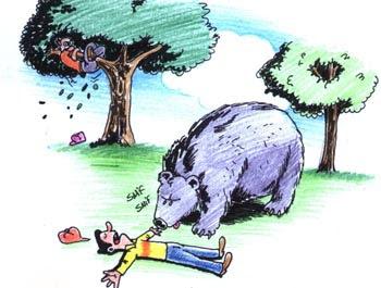 fabula corta los dos amigos y el oso