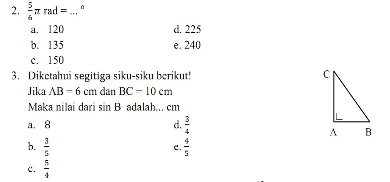 Contoh soal dan jawaban trigonometri kelas 10. Soal Trigonometri Kelas 10 Beserta Jawabannya Mudah