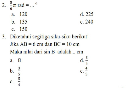 SOAL Trigonometri