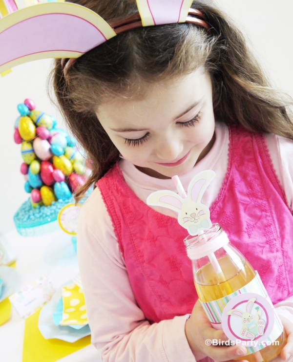 Easter Kids Brunch & DIY Party Ideas withn Printables - BirdsParty.com