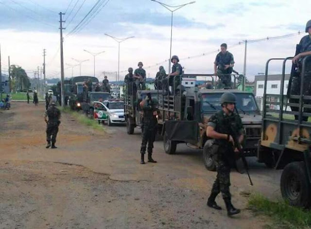 Após roubo de fuzil, exército faz operação de resgate em Criciúma