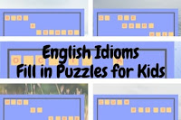 English Idioms-Fill in Puzzles for Kids