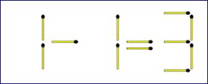 Matchsticks Equation Puzzle
