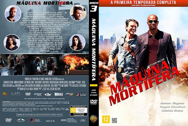 Capa DVD Máquina Mortífera - Primeira Temporada - Disco 3 [Custom]