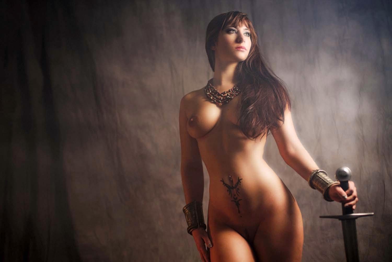 Fruit nude woman art