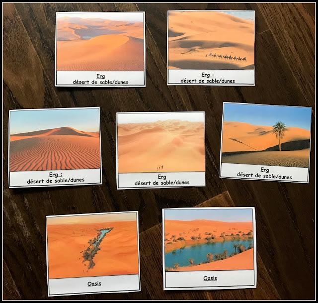 cartes nomemclature désert