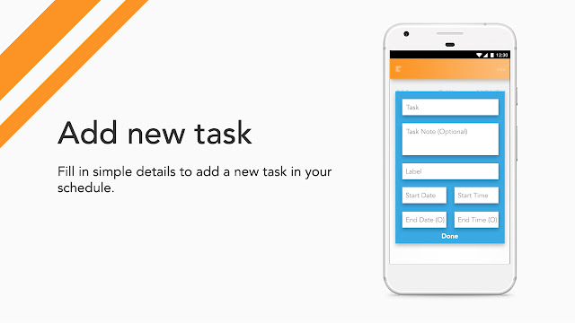 Android app UI and UX : bud Add New Task