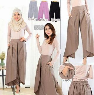 model rok batik muslim terbaru