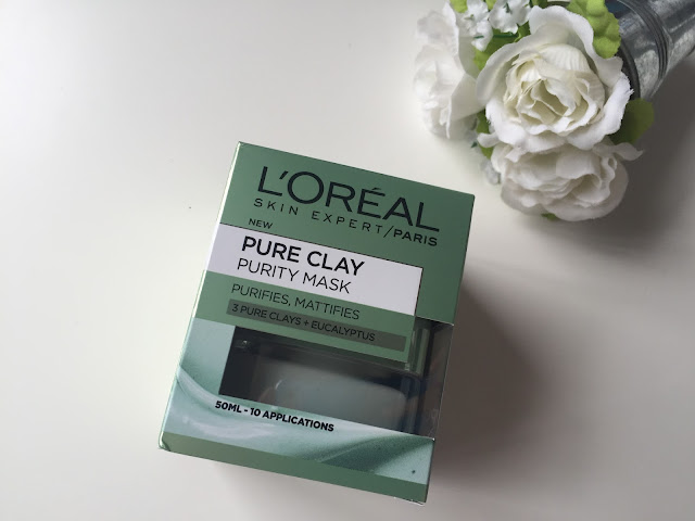 l'oreal pure clay face mask