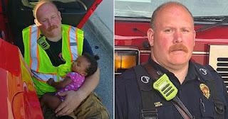 Πυροσβέστης έσωσε έγκυο γυναίκα από τροχαίο ατύχημα και κοίμισε στην αγκαλιά του το 4 μηνών κoριτσάκι της