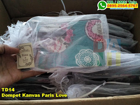 Jual Dompet Kanvas Paris Love