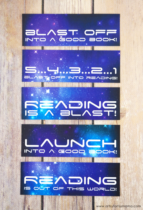 Free Printable Outer Space Bookmarks #SciFiJuniorHigh