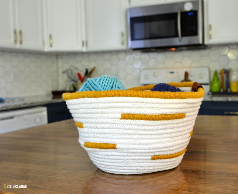 easy rope basket sewing tutorial