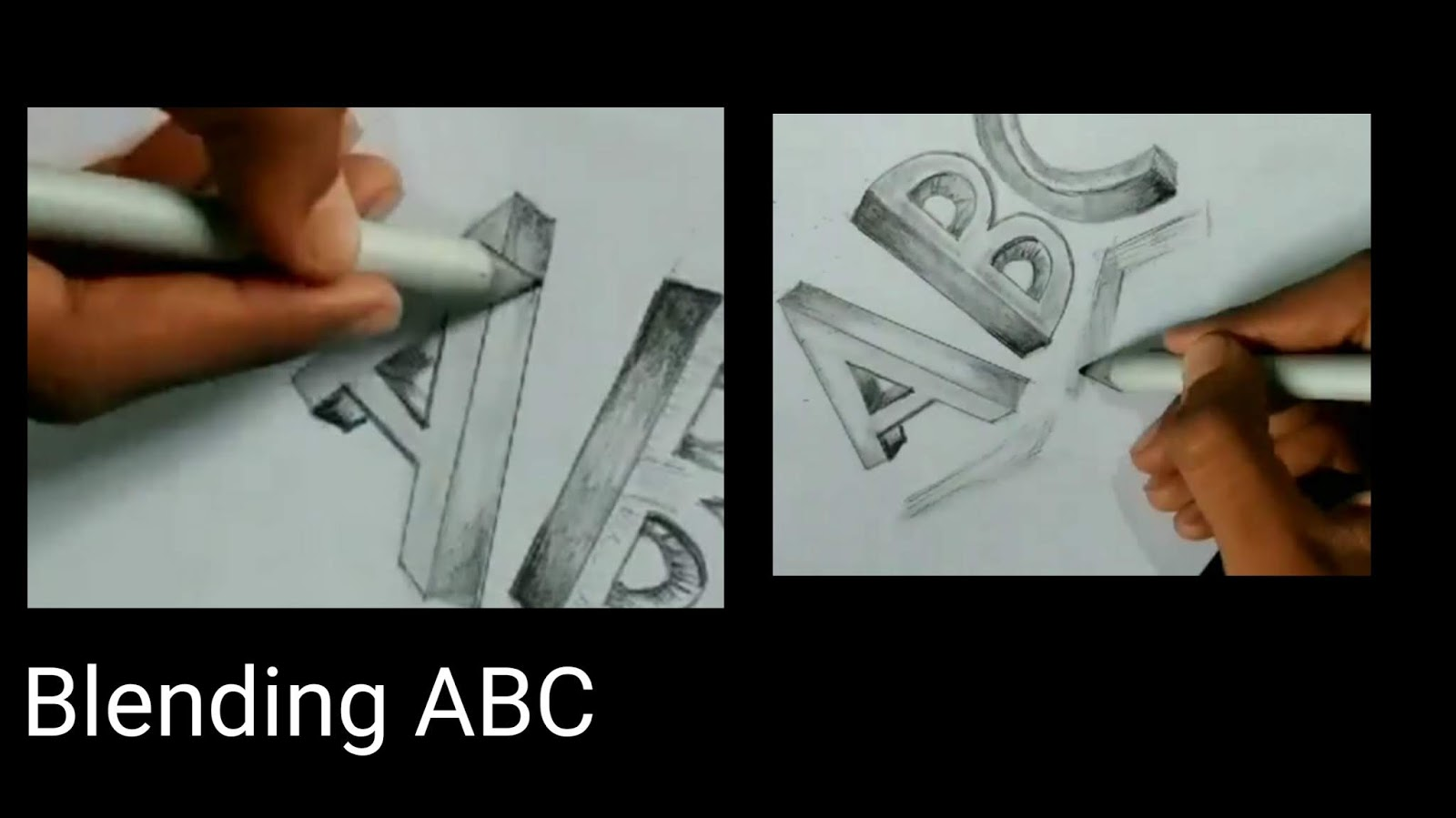 Artofrohit Com How To Draw Abc In 3d From Graphite Pencils Step